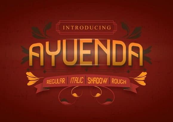 Download Ayuenda font (typeface)