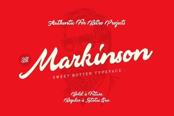 Download Markinson font (typeface)