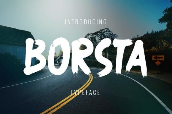 Download Borsta font (typeface)