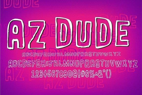 Download AZ Dude font (typeface)