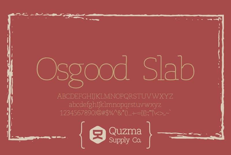 Download Osgood Slab font (typeface)