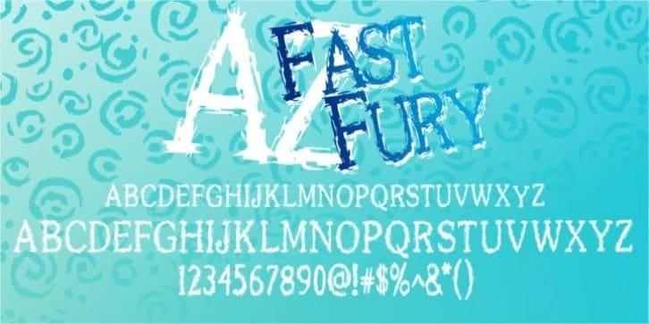 Download AZ Fast Fury font (typeface)