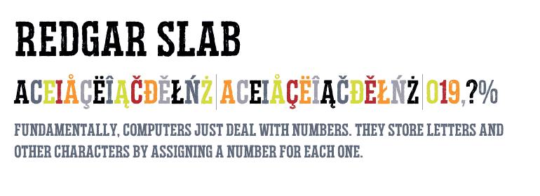 Download Redgar Slab font (typeface)