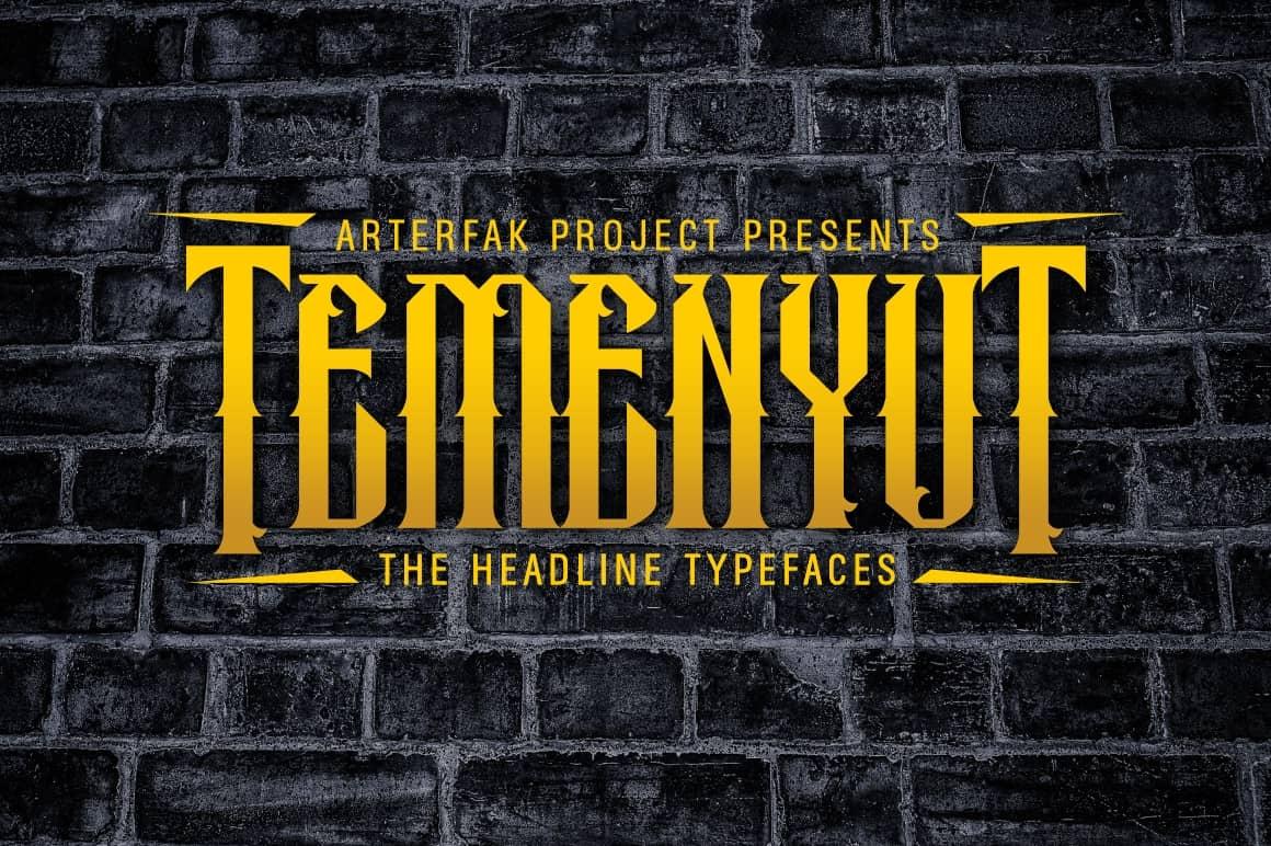 Download Temenyut Typeface font (typeface)