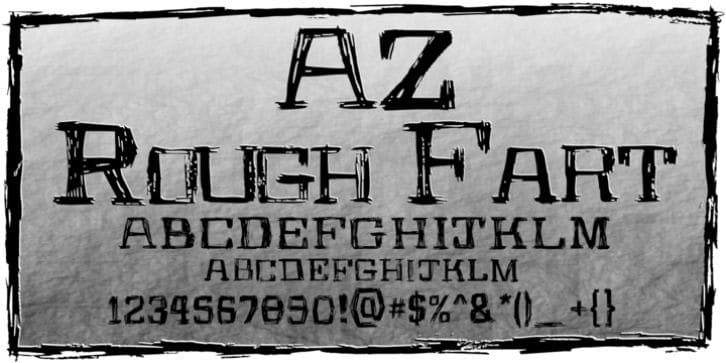 Download AZ Rough Fart font (typeface)