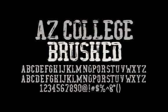 Download AZ College Brushed font (typeface)