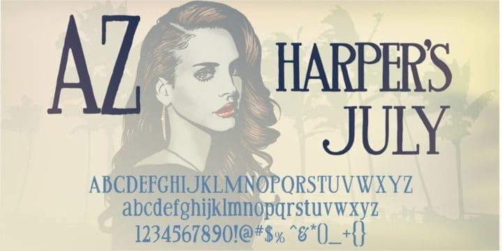 Download AZ Harpers July font (typeface)