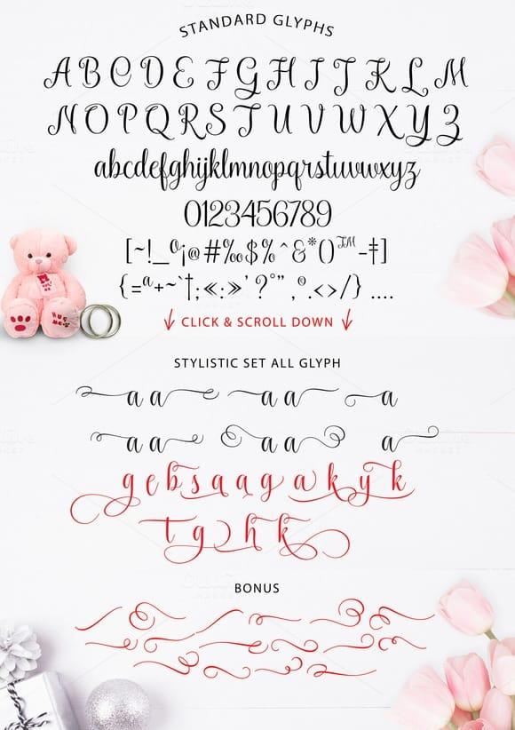 Download Kaiyila Script font (typeface)