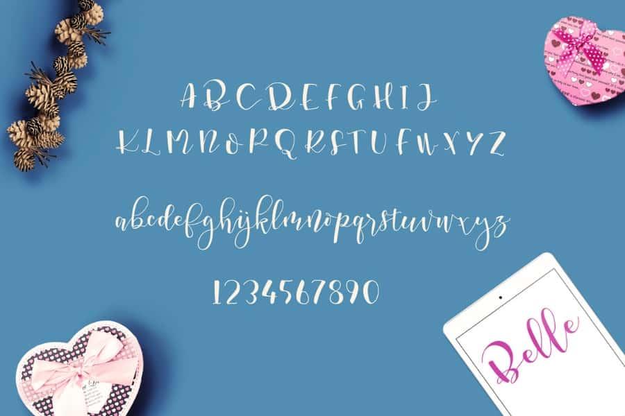 Download Marscha Belle font (typeface)