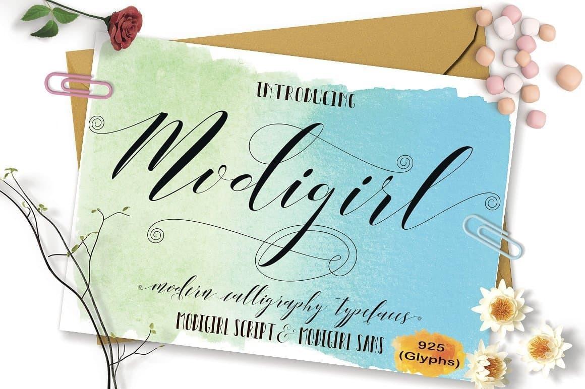 Download Modigirl Script font (typeface)