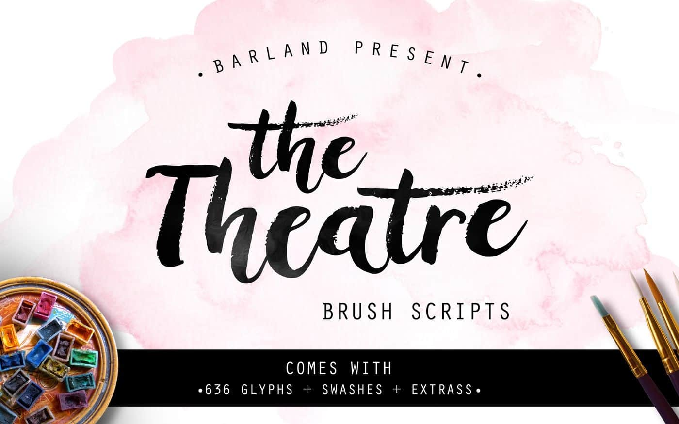Download The Theatre Brush font (typeface)