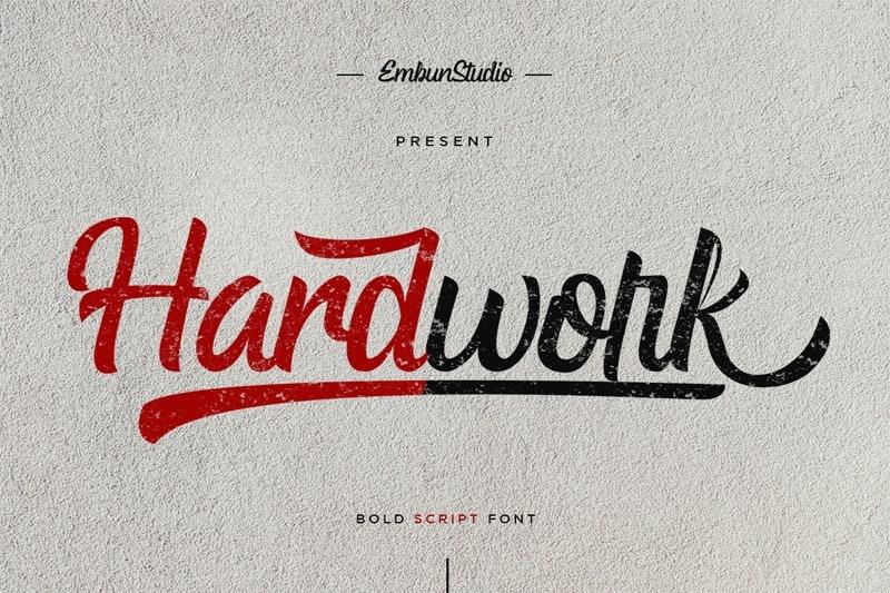 Download Hardwork font (typeface)