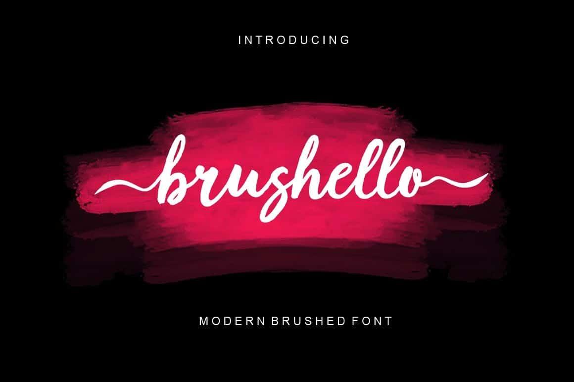 Download Brushello font (typeface)