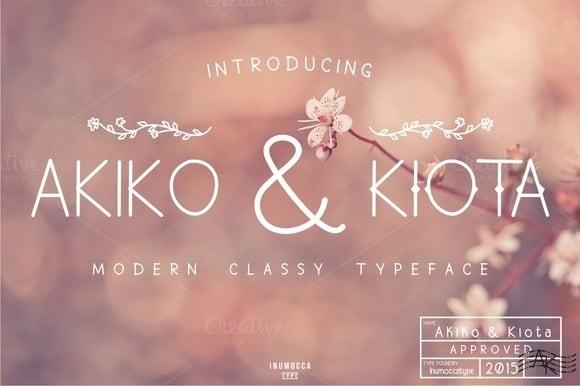 Download Akiko and Kiota font (typeface)