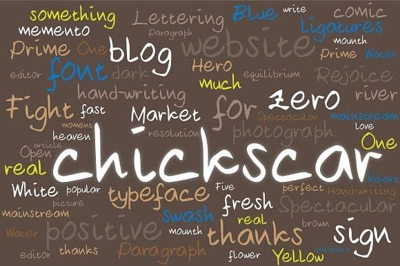 Download Chickscar font (typeface)