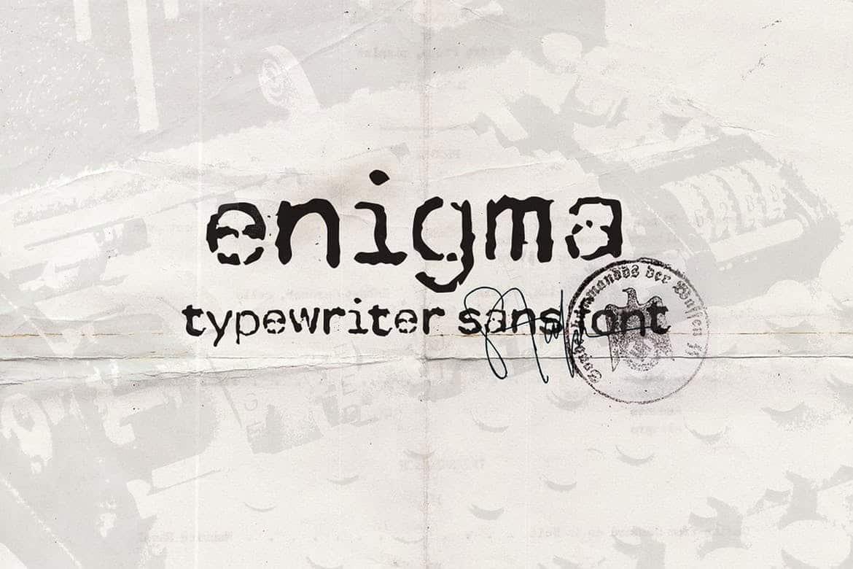 Download Enigma Typewriter Sans font (typeface)