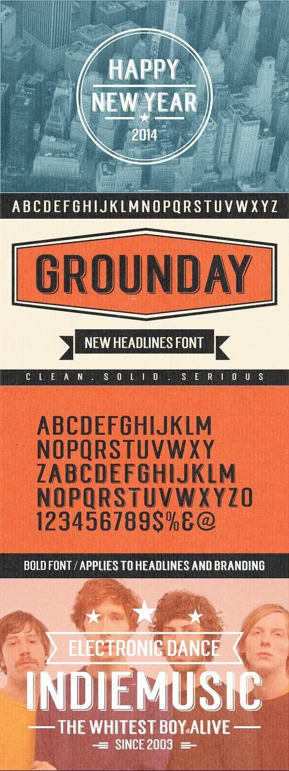 Download Grounday Typeface font (typeface)