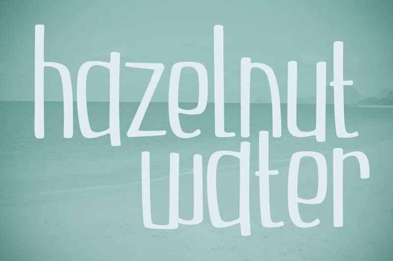 Download Hazelnut Water Light font (typeface)