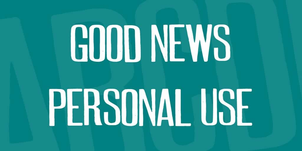 Download The good news font (typeface)