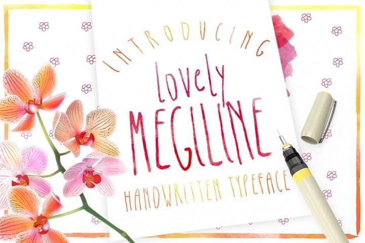 Download Megiline font (typeface)