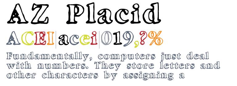 Download AZ Placid font (typeface)