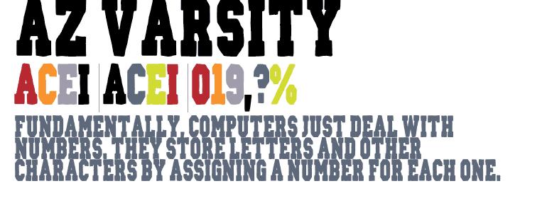 Download AZ Varsity font (typeface)
