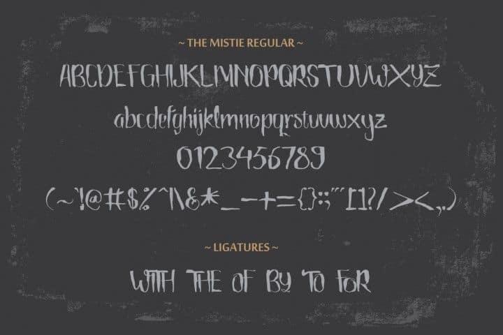Download The Mistie font (typeface)