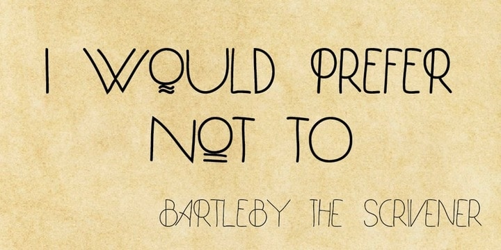 Download Bartleby font (typeface)
