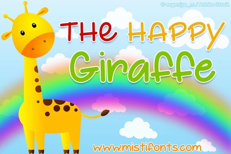 Download The Happy Giraffe font (typeface)