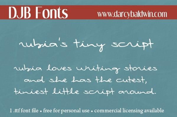 Download Tinyscript font (typeface)