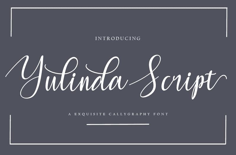 Download Yulinda font (typeface)