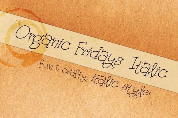 Download Organic Fridays Italic font (typeface)