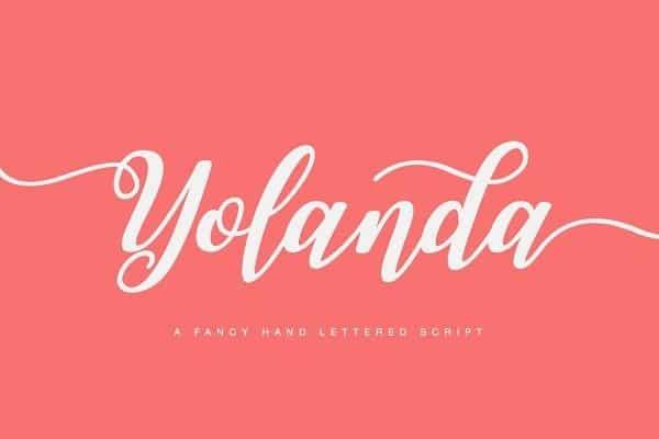 Download Yolanda font (typeface)