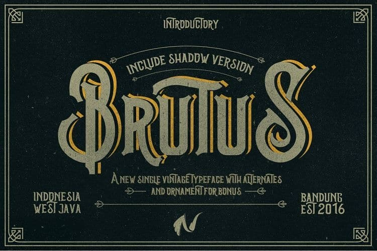 Download Brutus Type font (typeface)