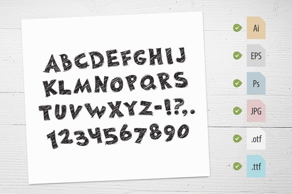 Download Hand Drawn Chalked font (typeface)