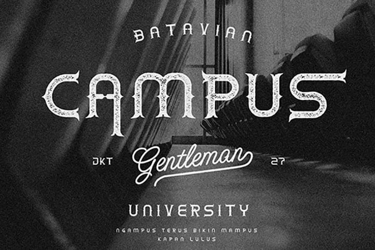 Download Mustache University font (typeface)