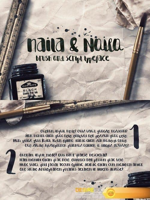 Download Naila Script font (typeface)