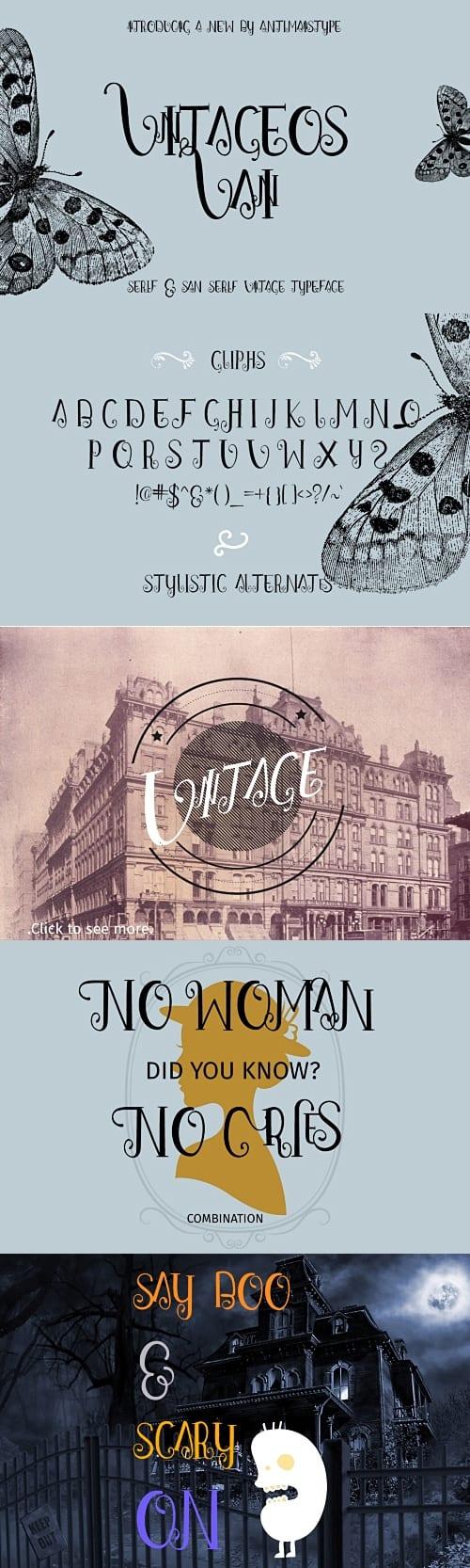 Download Vintageos Vain font (typeface)