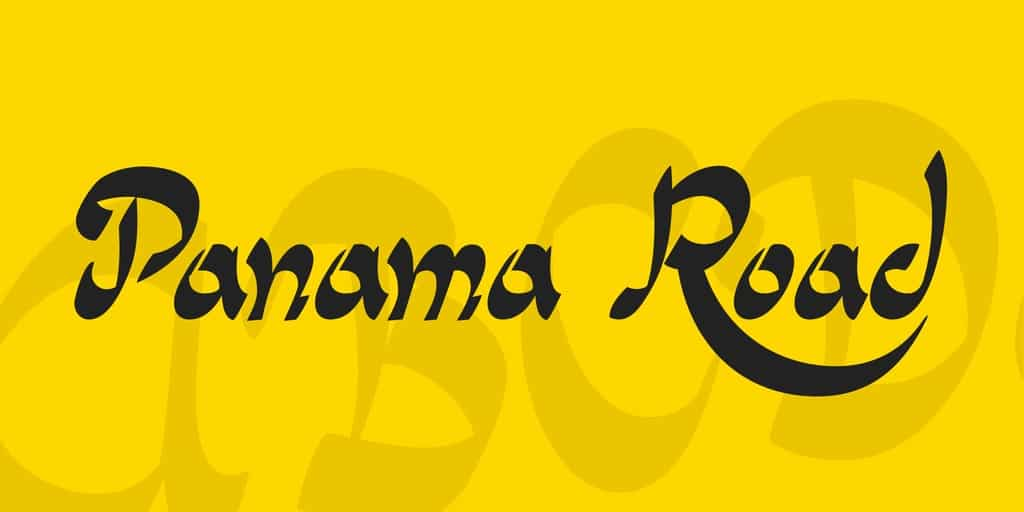 Download Panama Road font (typeface)