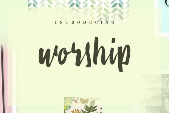 Download Worship font (typeface)