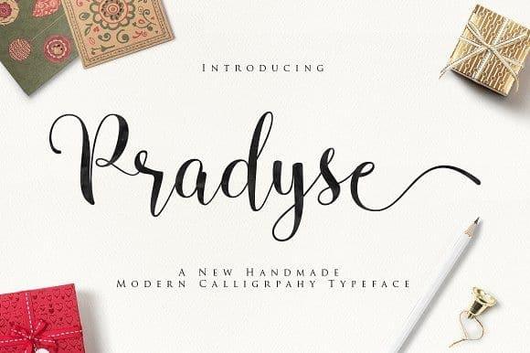 Download Pradyse font (typeface)