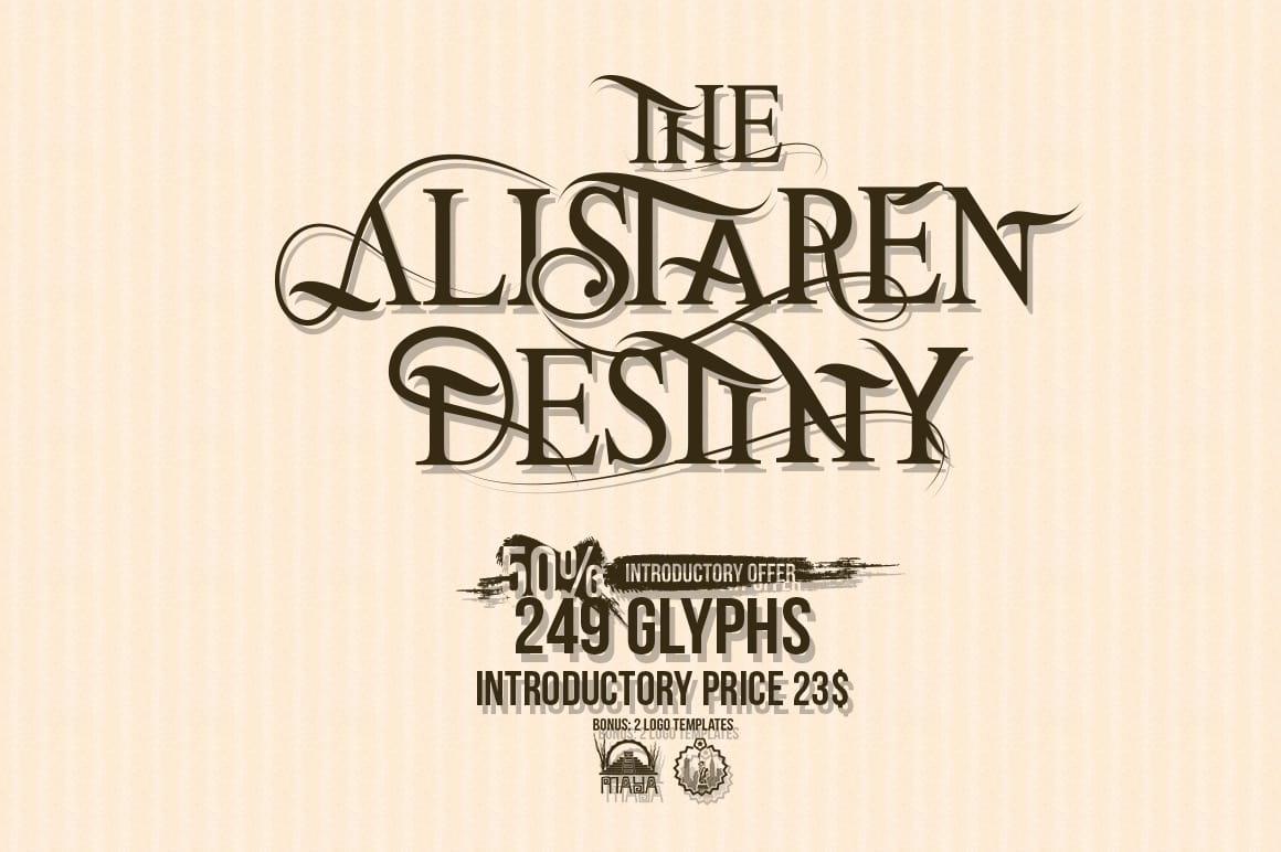 Download The Alistaren font (typeface)