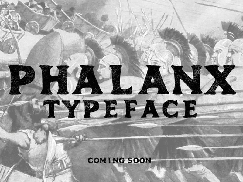 Download Phalanx font (typeface)