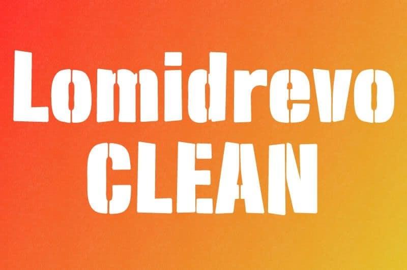 Download Lomidrevo Stencil font (typeface)