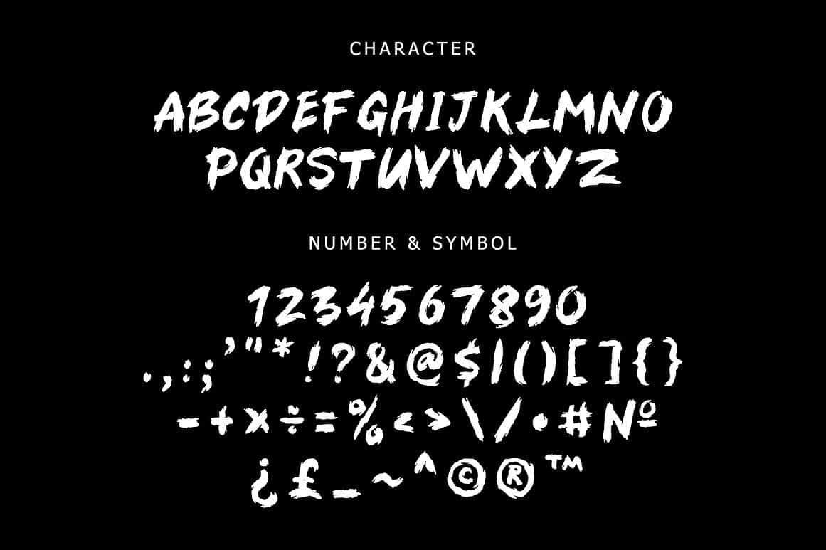 Download Sungai Brush font (typeface)