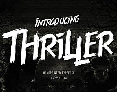 Download Thriller font (typeface)