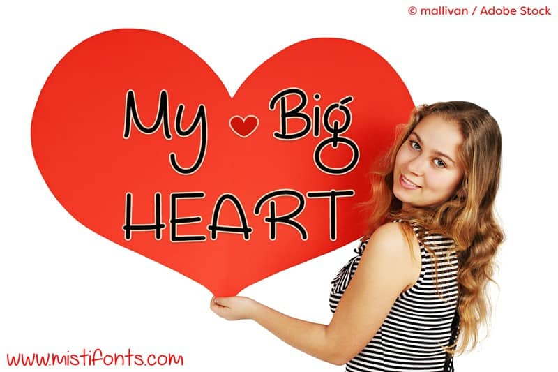 Download My Big Heart font (typeface)
