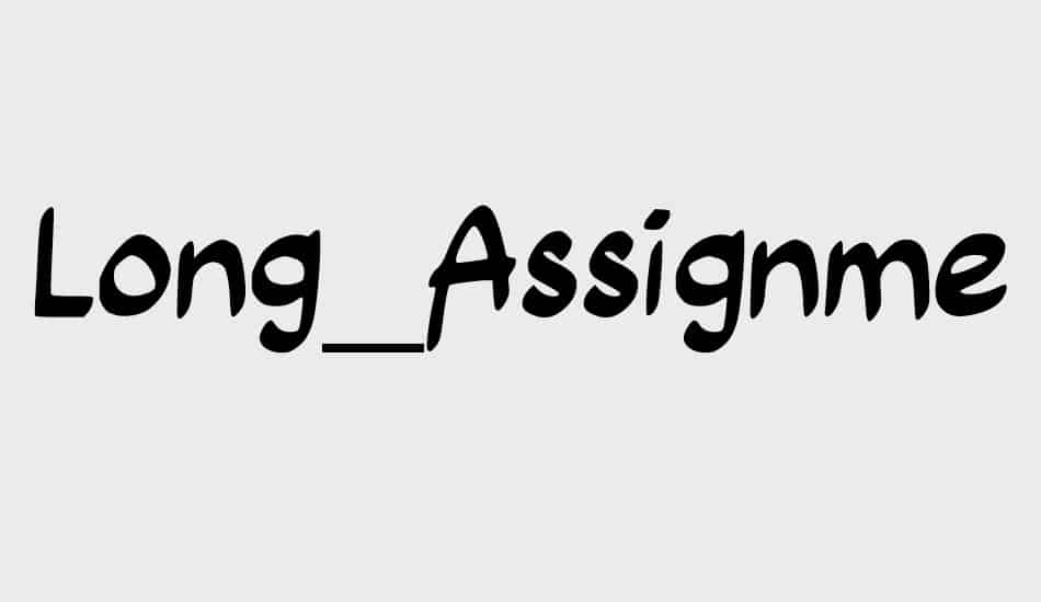 Download Long Assignment font (typeface)