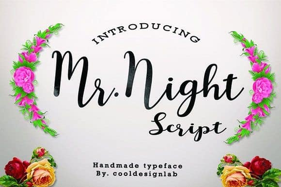 Download Mr. night font (typeface)