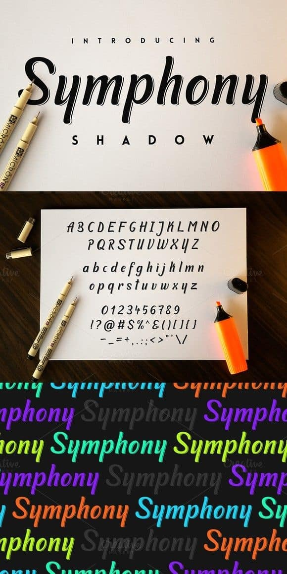Download Symphony Shadow font (typeface)